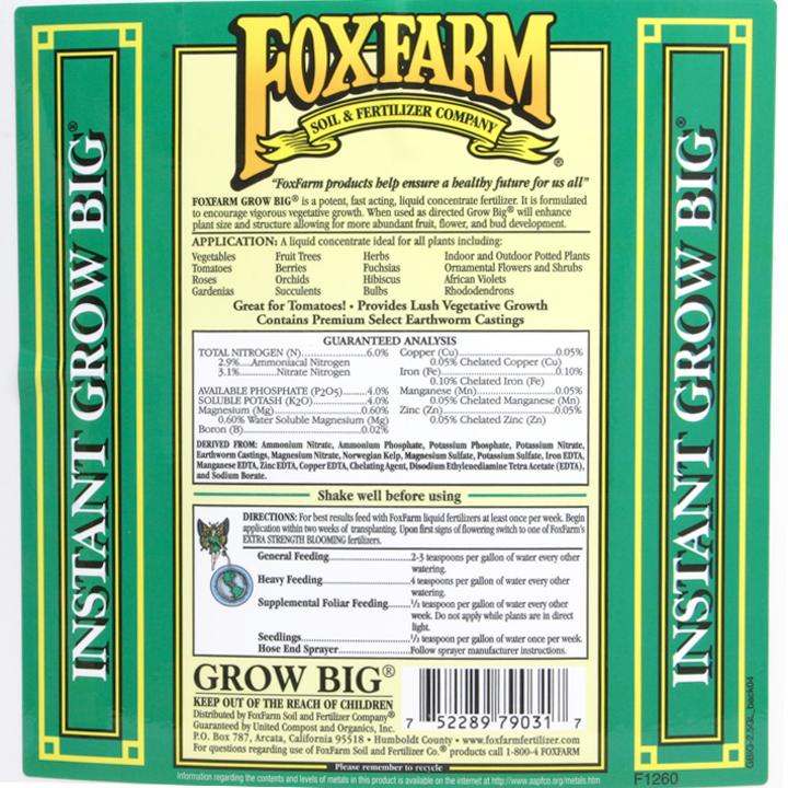 Grow Big By Foxfarm