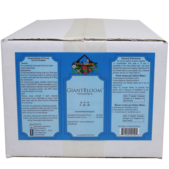 Vita Grow GiantBloom 0-49-29 Granular Fertilizer